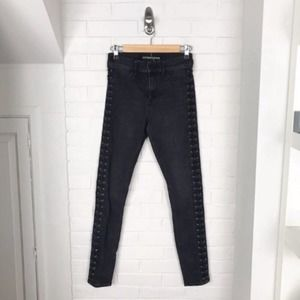 {Express} Lace Up High Rise Legging Jeans